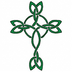 Green Celtic Cross embroidery design