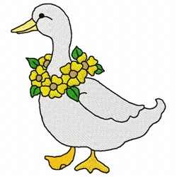 Floral Duck embroidery design