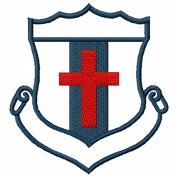Red Cross Crest embroidery design