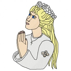 First Communion Girl embroidery design
