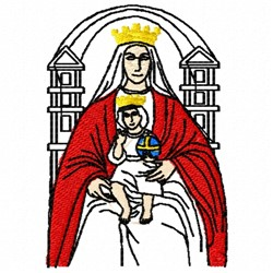 Madonna and Child embroidery design