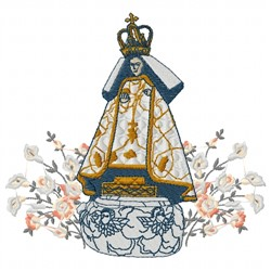 Our Lady of Fatima embroidery design