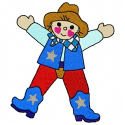 Cowboy Doll embroidery design