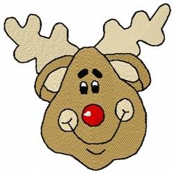 Rudolph Reindeer embroidery design