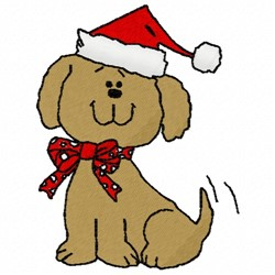 Christmas Dog embroidery design