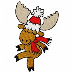Dancing Moose embroidery design