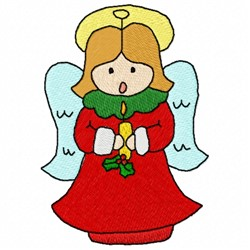 Carol Angel embroidery design