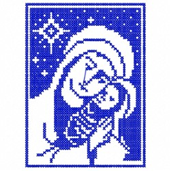 Mary and Jesus embroidery design