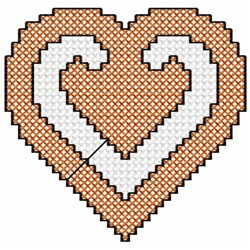 Cross Stitch Heart embroidery design