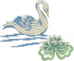 Fancy Swan embroidery design