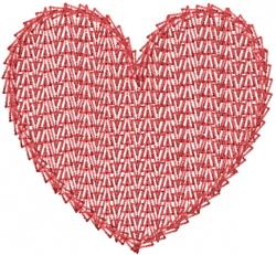 Needlework Heart embroidery design