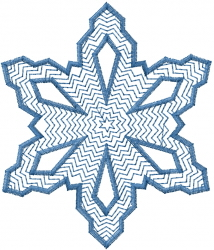 Fancy Snowflake Outline embroidery design