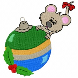 Mouse Ornament embroidery design