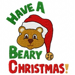 Beary Christmas embroidery design