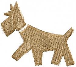 Schnauzer Dog Silhouette embroidery design