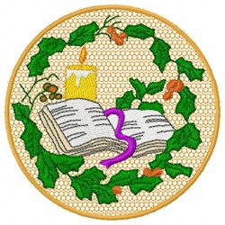 Bible & Holly embroidery design