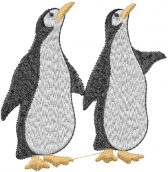 Cute Penguins embroidery design