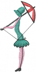 Lady With Parasol embroidery design