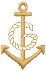 Rope And Anchor embroidery design