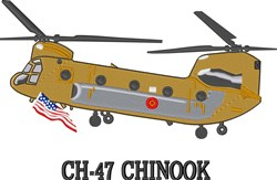 CH-47 Chinook embroidery design