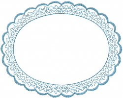 Circle Frame Ruffle embroidery design