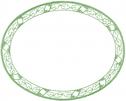 Leaf Frame Circle embroidery design