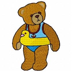 Bear Floatie embroidery design