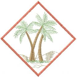 Palm Tree Scene embroidery design