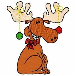 Christmas Moose embroidery design