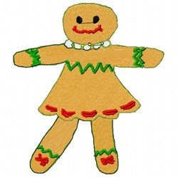 Gingerbread Woman embroidery design
