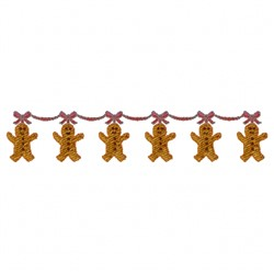 Gingerbread Garland embroidery design