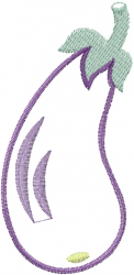 Eggplant Outline embroidery design