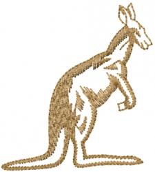 Kangaroo Outline embroidery design