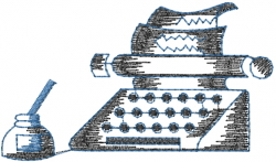 Ink Well Typewriter embroidery design