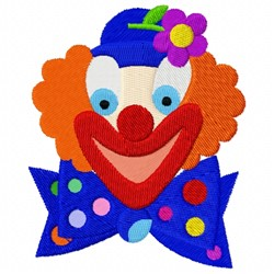 Clown embroidery design