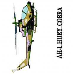 AH-1_Huey_Cobra embroidery design