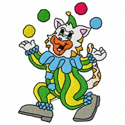 Cat Clown embroidery design