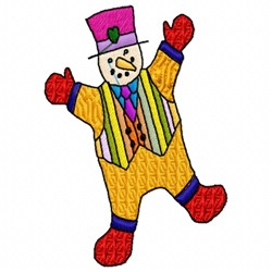 Snowman Clown embroidery design