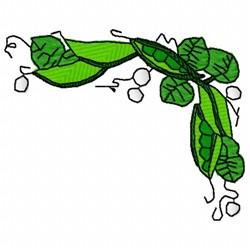 Peas Corner embroidery design