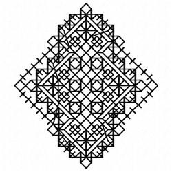 Cross Stitch Doily embroidery design
