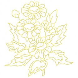 Flower Bunch embroidery design