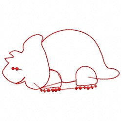 Brontosaurus Outline embroidery design