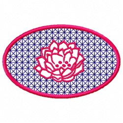 Oval Flower embroidery design
