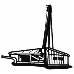 Construction Rig embroidery design