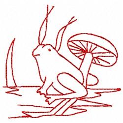 Redwork Frog embroidery design