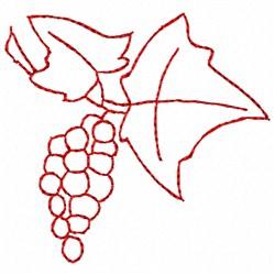 Grape Bunch embroidery design