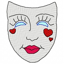 Mask embroidery design