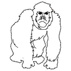 Gorilla Outline embroidery design
