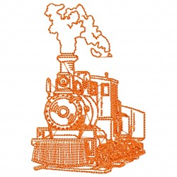 Steam Engine embroidery design