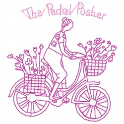 Pedal Pusher embroidery design
